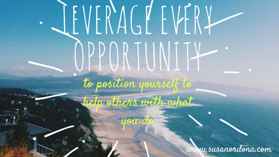 leverage every opportunity-1